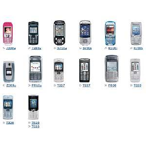 Sony Ericsson Phone Models List