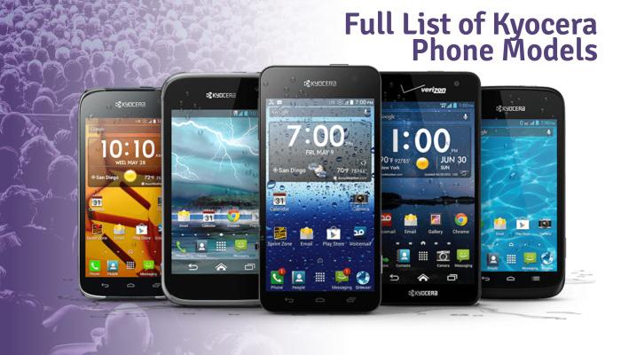 Full List of Kyocera Phone Models
