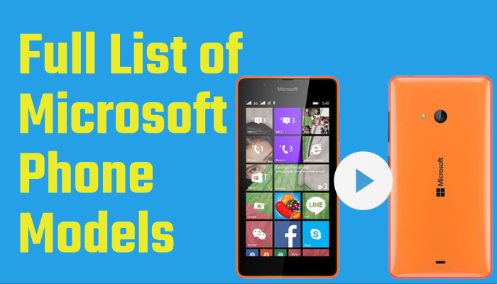 Full List of Microsoft Phone Models